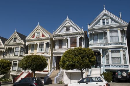 Alamos Square Seven Sisters one of the most famous views in San Francisco California photo
