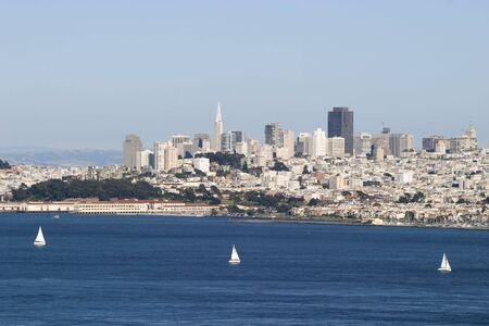 transamerica: Three Sail Boats in San Francisco Bay
