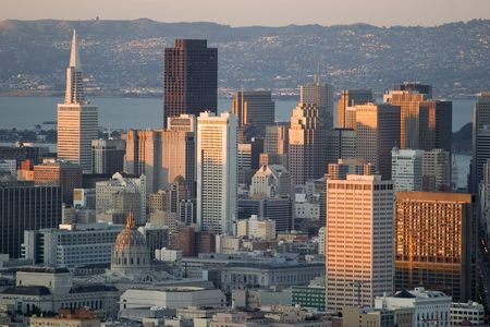 View of San Francisco's Financial District from Twin Peaks Stock Photo - 1297540
