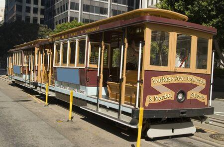 San Franciscos Cable Car on California Street