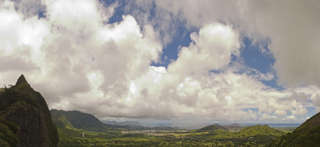 gigantic: view of Eastern Oahu as seen from the Pali lookout