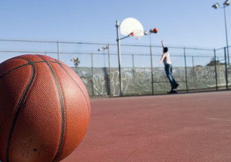 Basket Ball in Playground