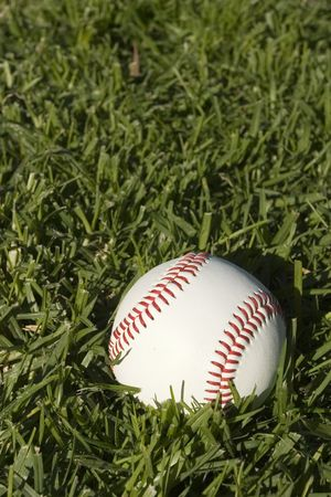 Base Ball Close up on grass Stock Photo - 2136847