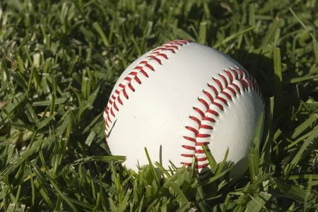Base Ball Close up on grass Stock Photo - 2136850