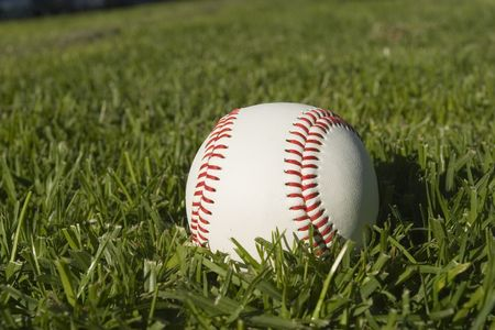Base Ball Close up on grass Stock Photo - 2136841