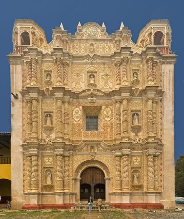 Church in San Cristobal de Las Casas, Chiapas, Mexico 版權商用圖片