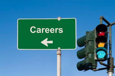 Careers Sign Stockfoto