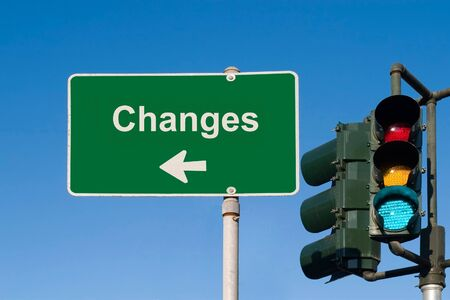 Changes Sign Stockfoto