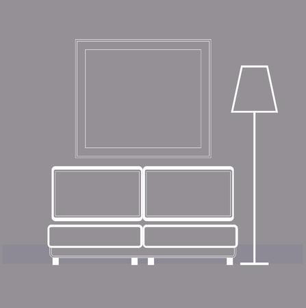 Living room � vector Illustration. Vector Living room interior.