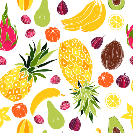 Fruit. Seamless vector pattern