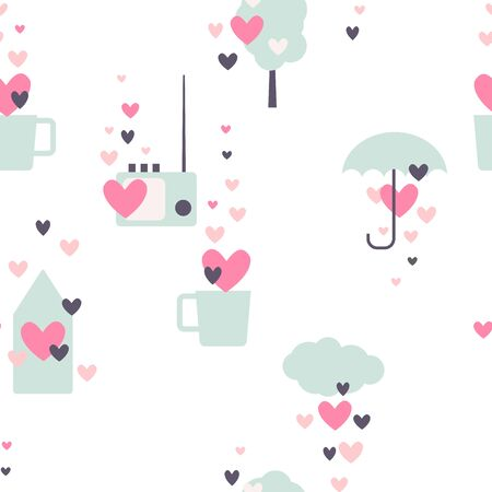 Valentine's day vector  seamless pattern