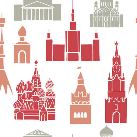 Moscow. Vector seamless pattern.