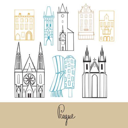 Prague. Vector sketch illustration.
