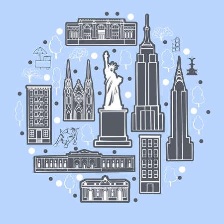 New York city illustration.