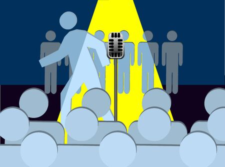 An illustration of Walk Out or Stage Fright