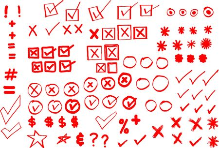 asterisks: Checks, checkmarks, Xs and other Website Doodles