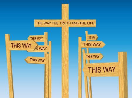 Droga, Prawda i Życie wektor znak