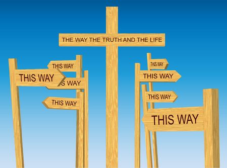 a way: Way, Truth and Life Sign Vector