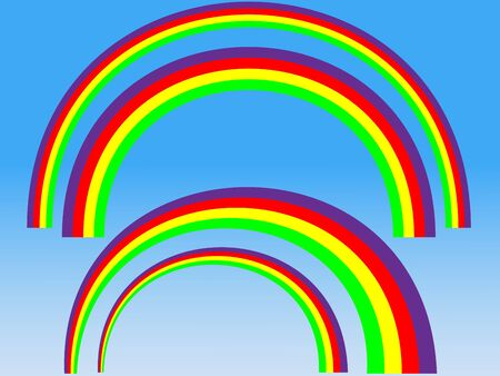 perspectives: vector rainbow set with different perspectives Stock Photo