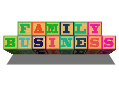 Una ilustración conceptual del negocio familiar o asunto.