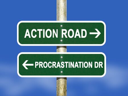 procrastination: Action and Procrastination Stock Photo