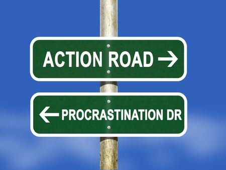 wander: Action and Procrastination Stock Photo