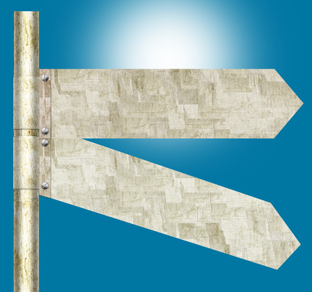pointed arrows: 2 Panel Blank Directional Road Sign