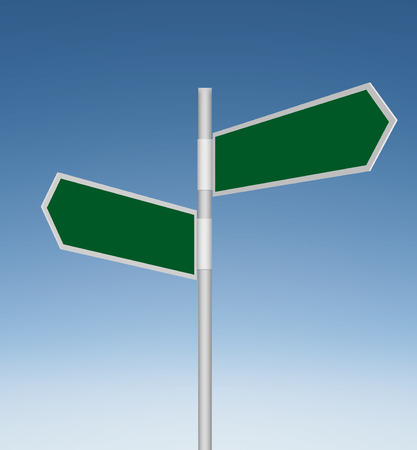 pointed arrows: 2 Panel Blank Directional Pointing Road Signs
