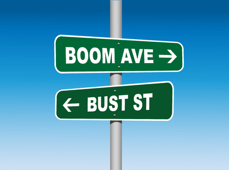 bust: Boom Avenue Bust Street Road Signs (Vector)