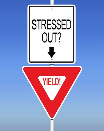 nformation: Stressed Yield! Road Sign