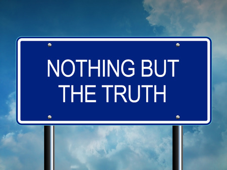 An illustration of nothing but the truth highway sign