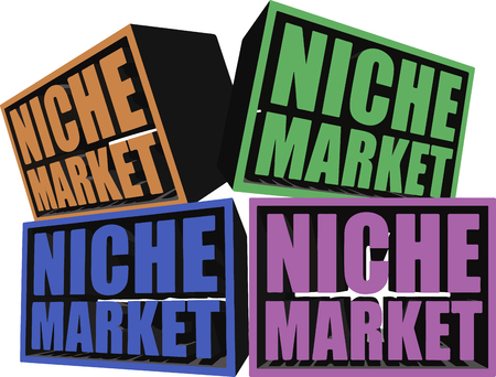 A conceptual illustration of Niche Markets with each block representing a particular niche market