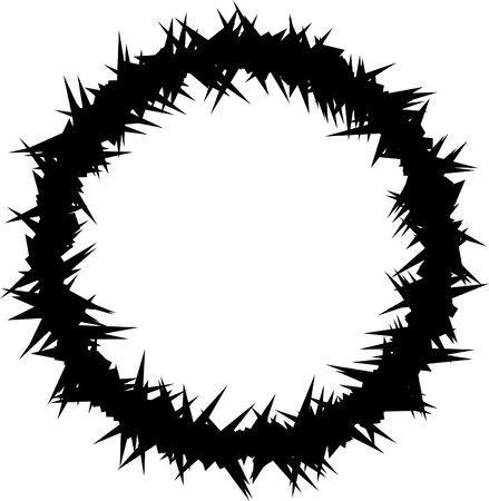 mockery: Crown of Thorns (Vector) Stock Photo