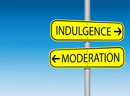 indulgence: Indulgence and Moderation Road Signs