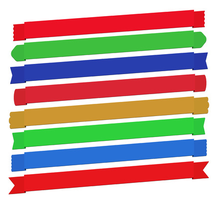saturation: Set of ready to use banner ribbons for your projects. Feel free to adjust hue and saturation in your image editor to adjust the colors to suit your requirements