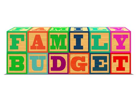 alphabet blocks: A conceptual illustration of Family Budget in Alphabet Blocks