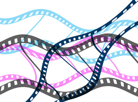 film industry: An illustration of an abstract film reel vector background