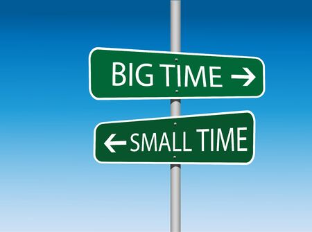 directional: Big Time and Small Time Directional Road Sign (Vector)