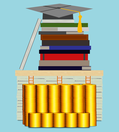 大学コストが高いの概念図 写真素材 - 53635701