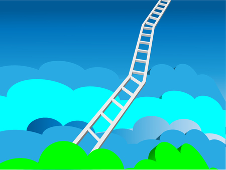 heaven: A conceptual illustration of a ladder to heaven