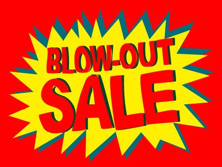 blowout: Blowout Sale Vector Banner