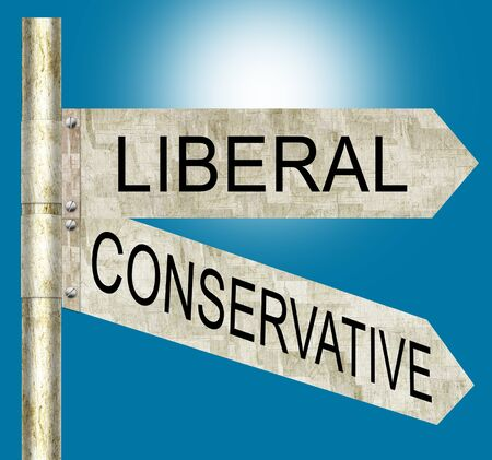 liberal: Liberal Conservative Road Signs