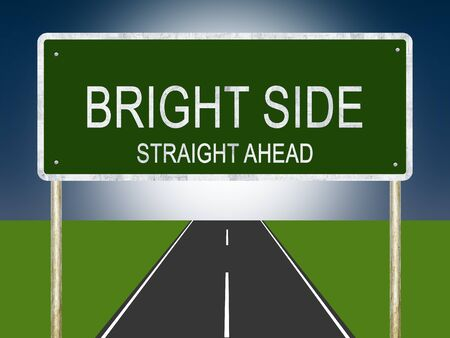 An illustration of Bright Side Road or Highway sign