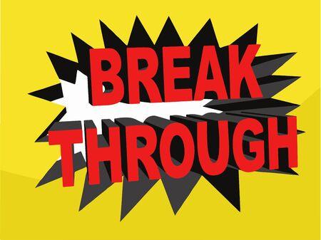 breakthrough: Breakthrough Banner Illustration (Vector) Stock Photo