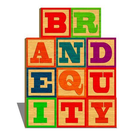 equidad: El valor de marca (aislado sobre fondo blanco)