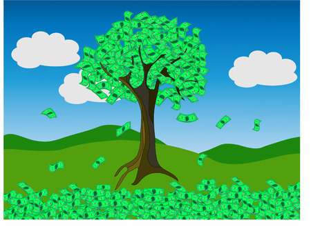 A conceptual illustration of money tree
