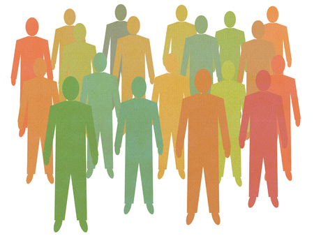 crowd sourcing: An illustration of crowd of men. People Power