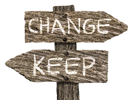 rickety: Keep or Change Old Wooden Signpost (on white background)