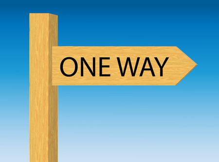one way sign: One Way Directional Road Sign Stock Photo
