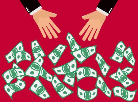 Cash Giveaway Blowout - caer las manos, el tono o tirar dinero en efectivo o pago inicial para la gente para coger